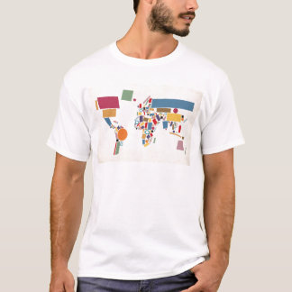 World Map Abstract T-Shirt