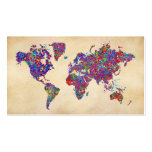 World Map, Action Painting Double-Sided Standard Business Cards (Pack Of 100)