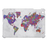 World Map, Action Painting Case For The iPad Mini