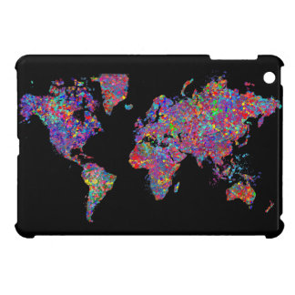 World Map, Action Painting iPad Mini Cases