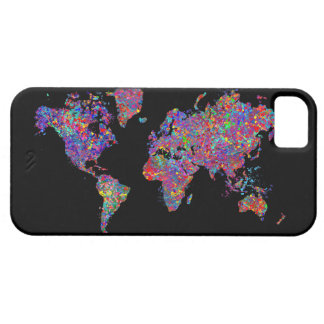 World Map, Action Painting iPhone SE/5/5s Case