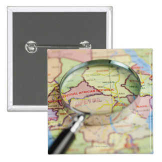 World Map, Africa 2 Inch Square Button
