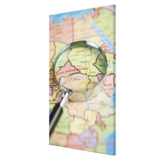 World Map, Africa Canvas Print