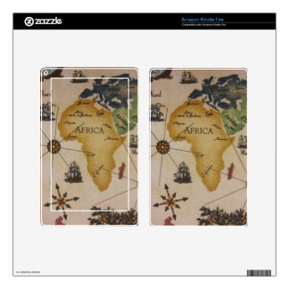 World Map - Africa Decals For Kindle Fire