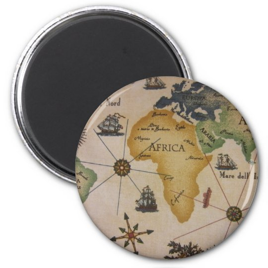 World Map - Africa Magnet
