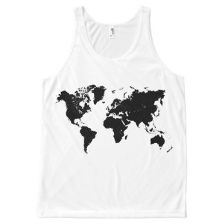 WORLD MAP All-Over PRINT TANK TOP