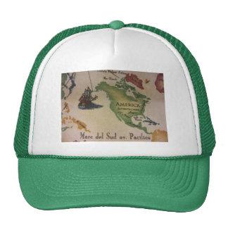 World Map - America Trucker Hat
