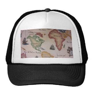 World Map -- Atlantic Ocean Trucker Hats