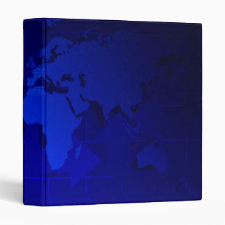 World Map Background 3 Ring Binders