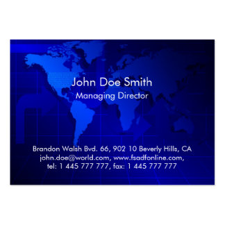 World Map Background Large Business Cards (Pack Of 100)