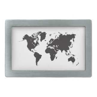 world map black belt buckle