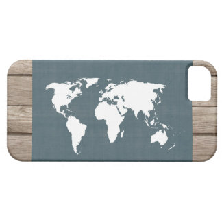 World Map . blue and white iPhone 5 Cover