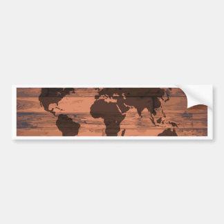 World Map Brand Bumper Sticker