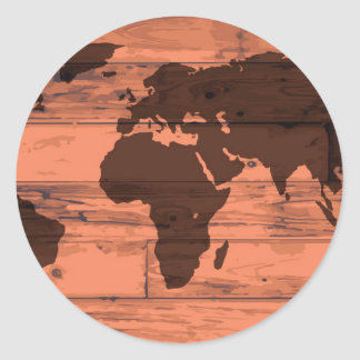 World Map Brand Classic Round Sticker