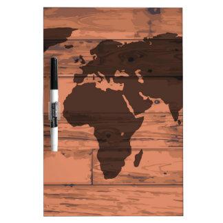 World Map Brand Dry-Erase Board