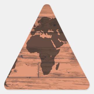 World Map Brand Triangle Sticker