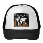 WORLD MAP BRICK BACKGROUND PRODUCTS HAT