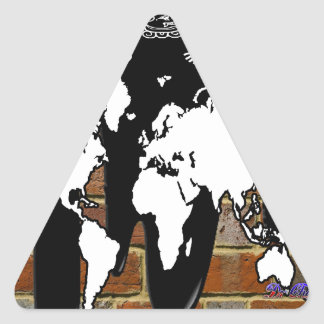 WORLD MAP BRICK BACKGROUND PRODUCTS STICKER