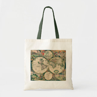 World Map Budget Tote