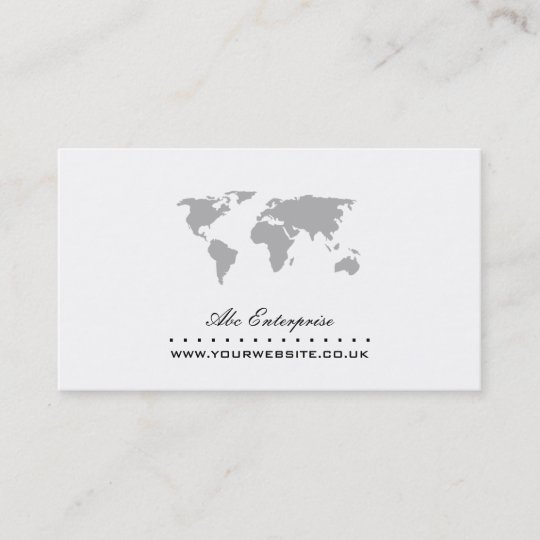map for business card