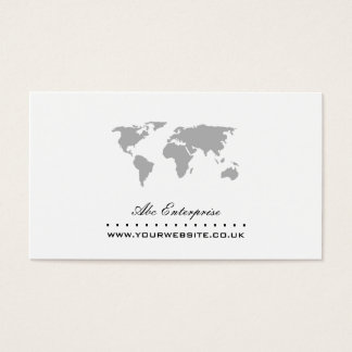 World Map Business Card