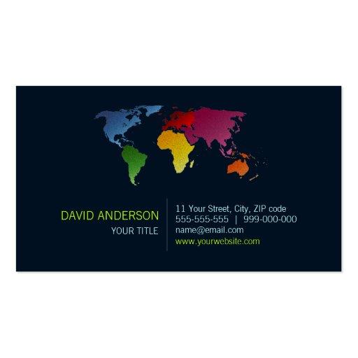 World Map Business Card Zazzle
