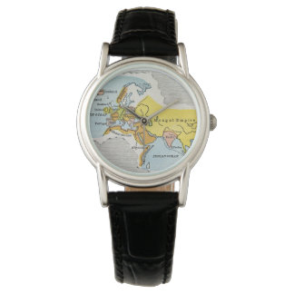 WORLD MAP, c1300. Wrist Watches