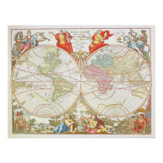 World Map c1694 Extra Large Poster