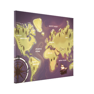 Cartoon world map wrapped canvas prints zazzle world map cartoon canvas print gumiabroncs Image collections