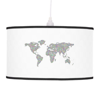 World map ceiling lamp
