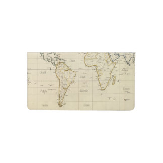 World map checkbook cover