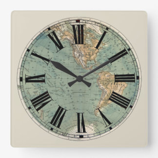 map wall clocks zazzle