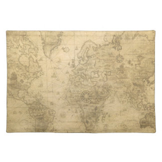 World Map Cloth Placemat