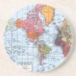 World Map coasters