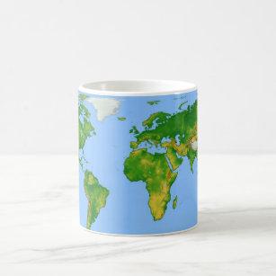 Colorful World Map Coffee Travel Mugs Zazzle