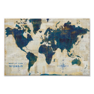 World Map Collage Poster
