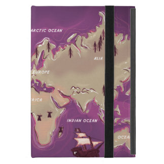 World Map Cover For iPad Mini