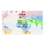 World Map Crumpled Multi-Coloured Double-Sided Standard Business Cards (Pack Of 100)