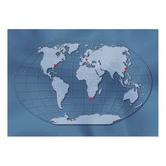 World map, customizable! large business cards (Pack of 100)