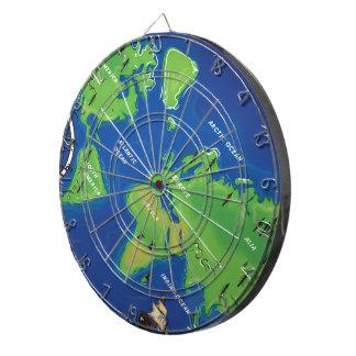 World Map Dartboard