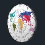 "World map darts board dartboard<br><div class=""desc"">Dart board with word map. Hit the world</div>"