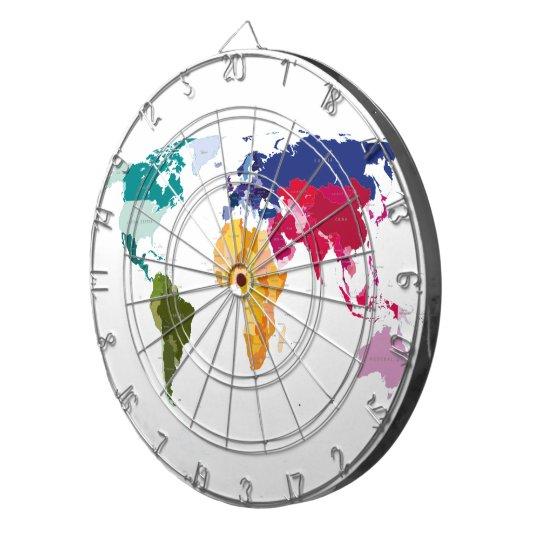 World map darts board dartboard | Zazzle.com on