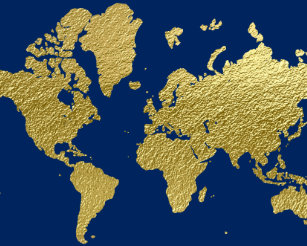 Gold world map stickers zazzle world map design navy and gold classic round sticker gumiabroncs Image collections