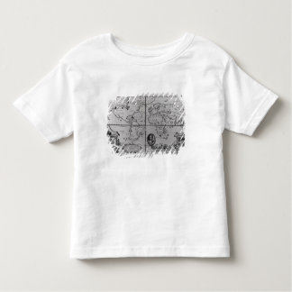 World Map detailing the Expeditions Toddler T-shirt
