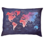 world map Dog Bed