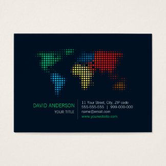 World Map Dots business card