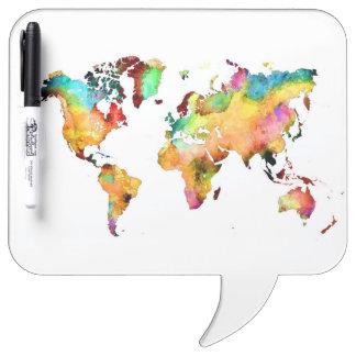 world map Dry-Erase board