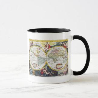 World Map, early 18th century (coloured engraving) Mug