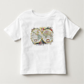 World Map, early 18th century (coloured engraving) Toddler T-shirt