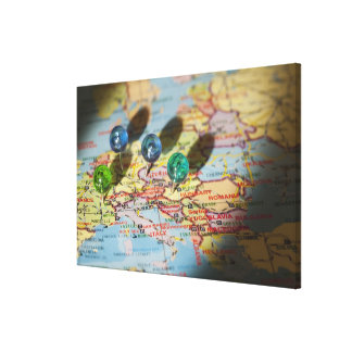 World Map, Europe Canvas Print